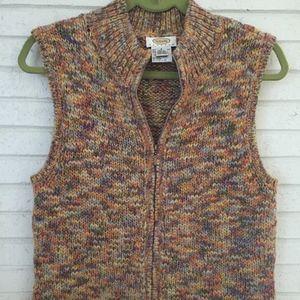 Talbots Petite Zip Up Sweater Vest